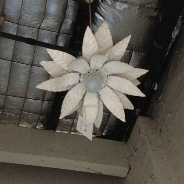 "Tin 1960's ""Flower Power"" light shades"