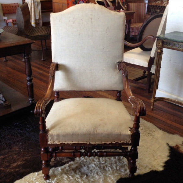 Louis XIV Style Open Arm Chair