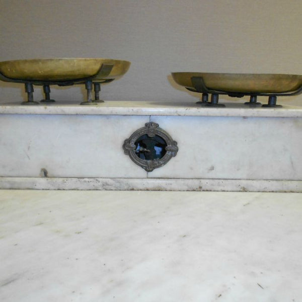 French Kitchen Brass & Marble Scales