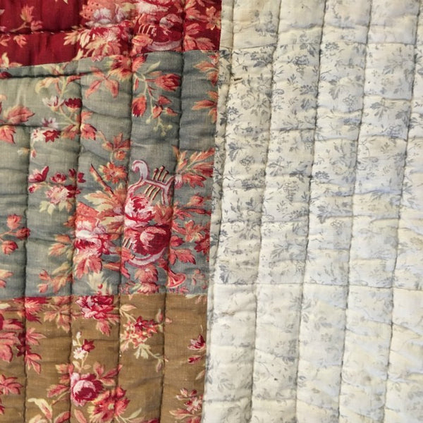 Antique French Quilt - Boutis
