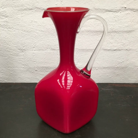 Art Glass Red Jug