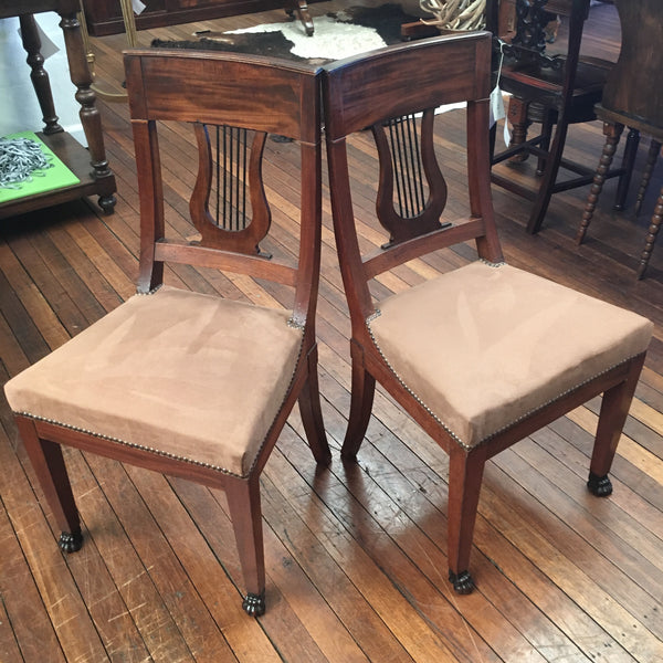 Pair of Empire Style Chairs