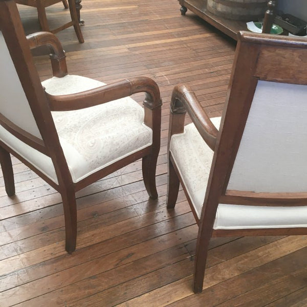 Pair of Empire Open Arm Chairs