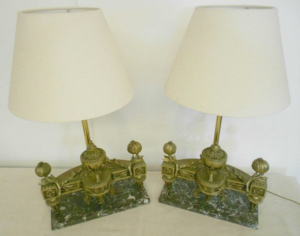 Marble & Bronze Lamp Bases