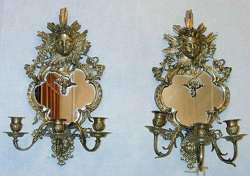 TB0045: Pair of French Antique Bronze Girondelles