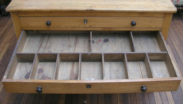 Map or plan chest of drawers. Front view 2nd compartment open.