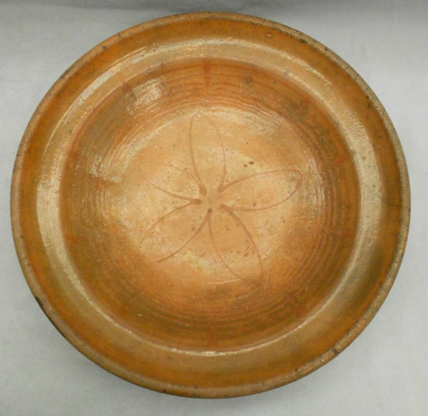 TB0089: Glaze Bowl Brown with Flower