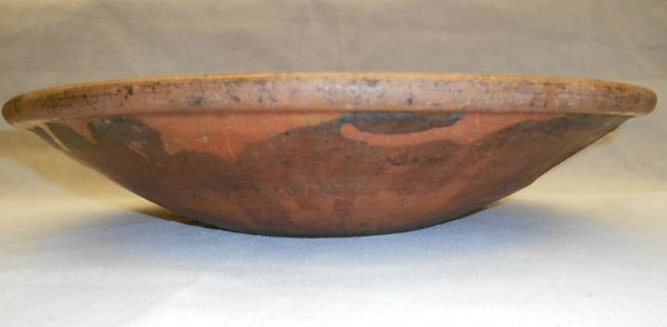 TB0089: Glaze Bowl Brown with Flower - side view