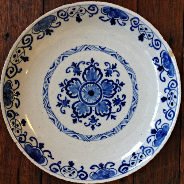 Pair of Blue and White Delft Plates