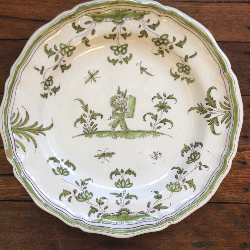 Green Faience Plates From Moustiers 4 Ben Stoner Antiques