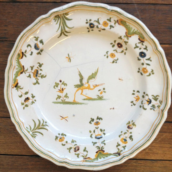 Pair of Yellow Moustiers Plates
