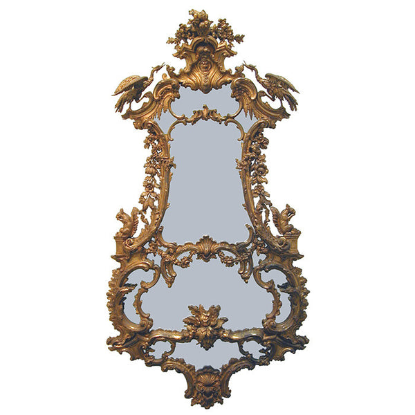 Spectacular 1850's 2.5m high Gilt Mirror