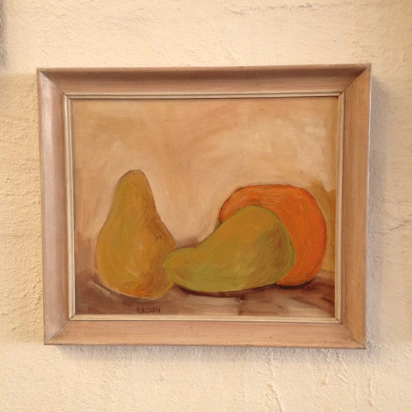 Still Life Pears & Orange