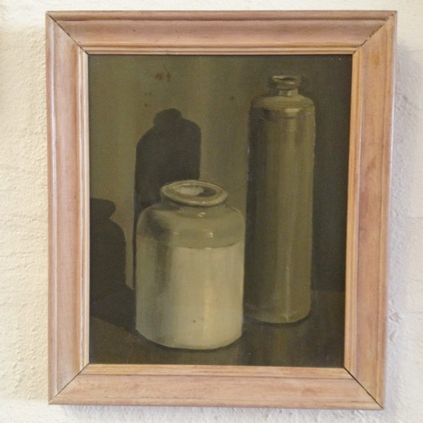 Still Life Painting Two Earthenware Vases