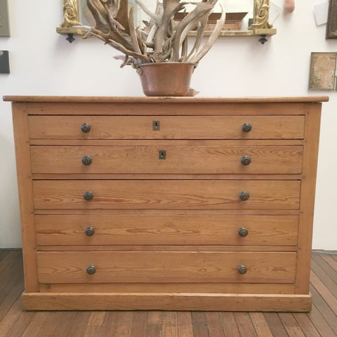 Map or Plan File Chest of Drawers