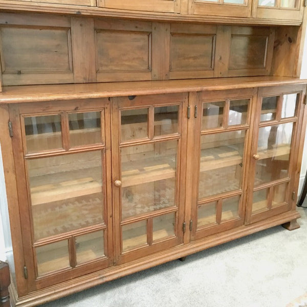 Pine Bookcase 8 Door (no back)