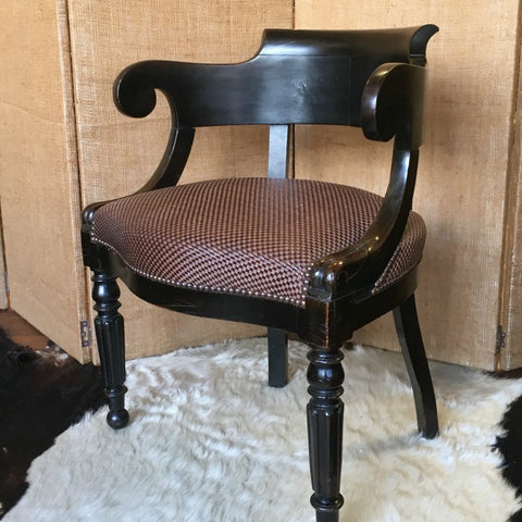 Napoleon III Ebonised Desk Chair