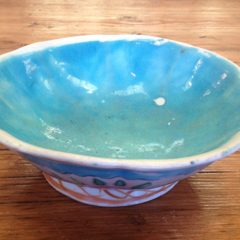 Vietnamese Hand Painted Ceramic Bowl