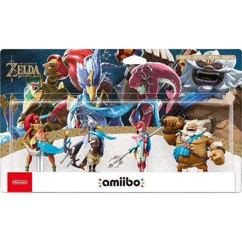 Urbosa + Revali + Mipha + Daruk : Champions Amiibo 4-Pack - The Legend of Zelda: Breath of the Wild Series [Nintendo Accessory]