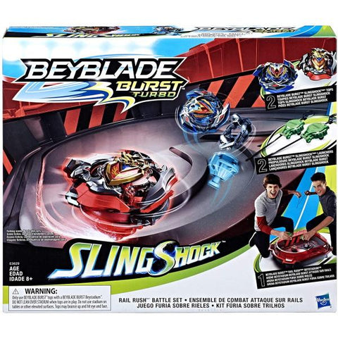 Beyblade Burst Turbo Slingshock Rail Rush Battle Set [Toys, Ages 8+]