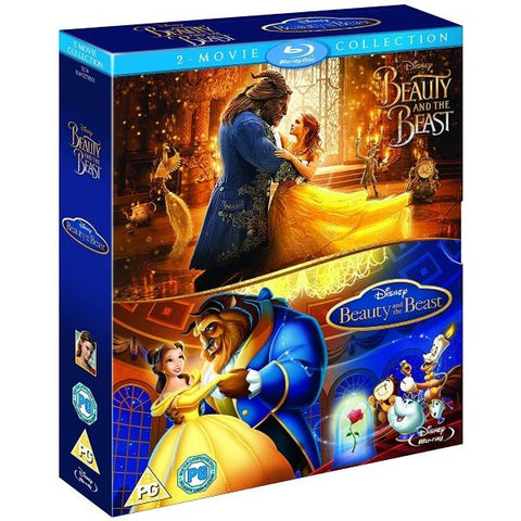Disney's Beauty and the Beast Live Action + Animated Classic 2-Movie Collection [Blu-Ray Box Set]