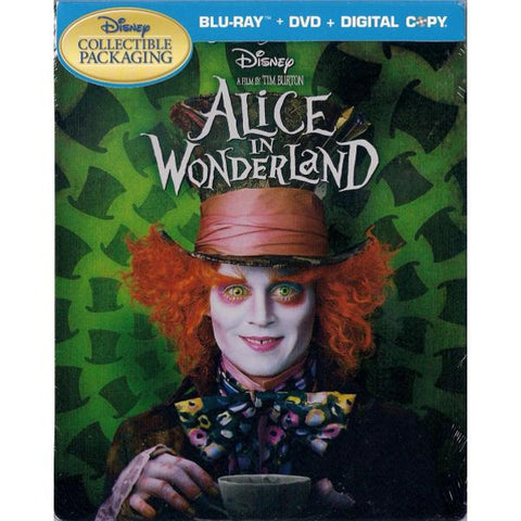 Disney's Alice in Wonderland - Live Action - Limited Edition SteelBook [Blu-ray + DVD + Digital]