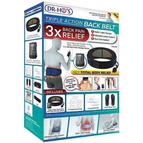 DR-HO'S Triple Action Back Belt TENS [Healthcare]