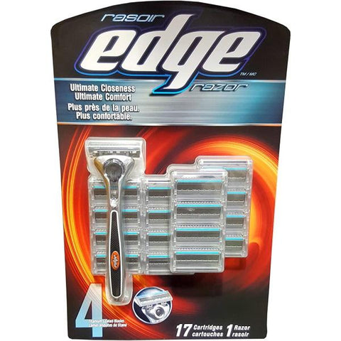 Edge 4-Titanium-Blade Razor with 17 Refills [Personal Care]