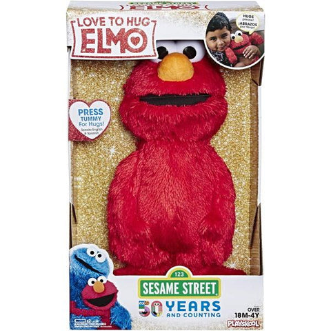 Elmo Loves to Hug 14-Inch Plush Toy [Toys, Ages 8 Months+]