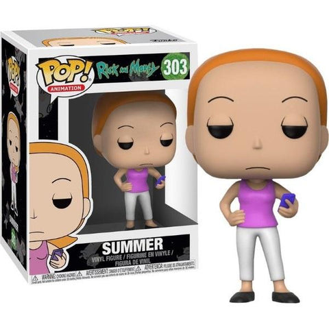 Funko POP! Animation - Rick and Morty: Summer Vinyl Figure [Toys, Ages 17+, #303]