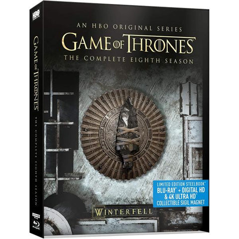 Game of Thrones: The Complete Eighth Season - 4K Limited Edition SteelBook [Blu-ray  + 4K UHD + Digital Box Set]