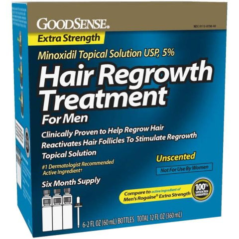 GoodSense Hair Regrowth Treatment for Men - Minoxidil Topical Solution USP, 5% - 360mL / 12 fl oz [Healthcare]
