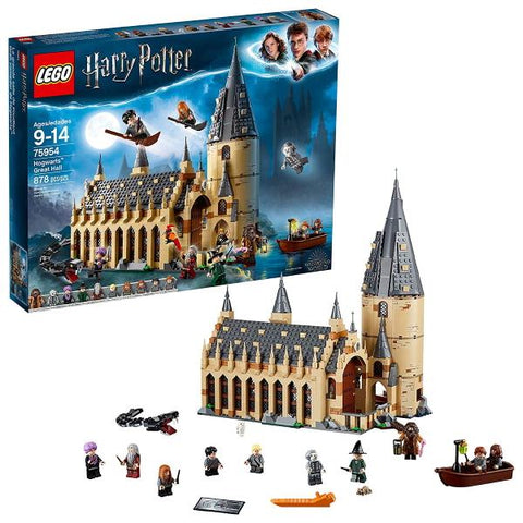 LEGO Harry Potter: Hogwarts Great Hall - 878 Piece Building Set [LEGO, #75954, Ages 9-14]