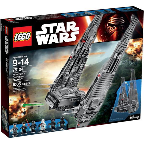 LEGO Star Wars: Kylo Ren's Command Shuttle - 1005 Piece Building Kit [LEGO, #75104, Ages 9-14]