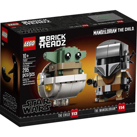LEGO BrickHeadz: Star Wars - The Mandalorian & the Child - 295 Piece Building Kit [LEGO, #775317, Ages 10+]