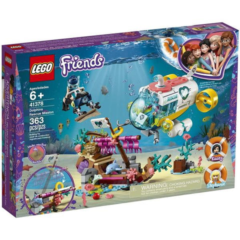 LEGO Friends: Dolphins Rescue Mission - 363 Piece Building Kit [LEGO, #41378, Ages 6+]