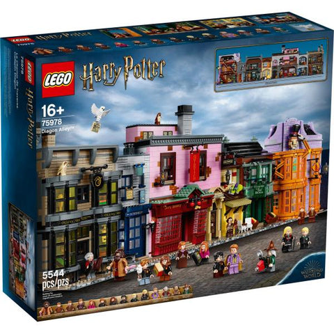 LEGO Harry Potter: Diagon Alley - 5544 Piece Building Kit [LEGO, #75978, Ages 16+]