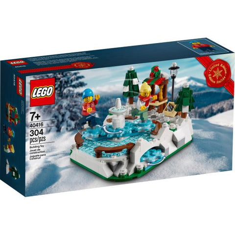 LEGO Ice Skating Rink - Limited Edition - 304 Piece Building Kit [LEGO, #40416, Ages 7+]