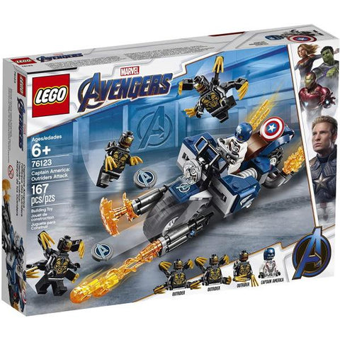 LEGO Marvel Avengers: Captain America - Outriders Attack - 167 Piece Building Kit [LEGO, #76123, Ages 6+]