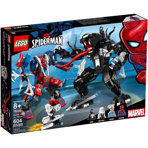 LEGO Marvel Spider-Man: Spider Mech vs. Venom - 604 Piece Building Kit [LEGO, #76115, Ages 8+]