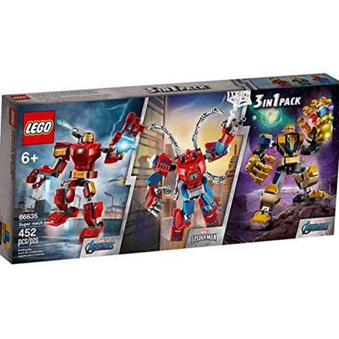 LEGO Marvel: Super Mech 3-in-1 Pack - 452 Piece Building Kit [LEGO, #66635, Ages 6+]