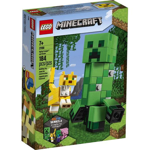 LEGO Minecraft: BigFig Creeper and Ocelot - 184 Piece Building Kit [LEGO, #21156, Ages 7+]