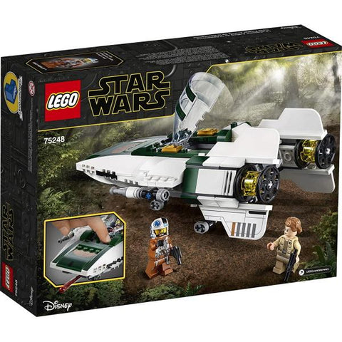 LEGO Star Wars: Resistance A-Wing Starfighter - 269 Piece Building Kit [LEGO, #75248, Ages 7+]