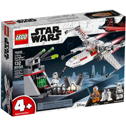 LEGO Star Wars: X-Wing Starfighter Trench Run - 132 Piece Building Kit [LEGO, #75235, Ages 4+]