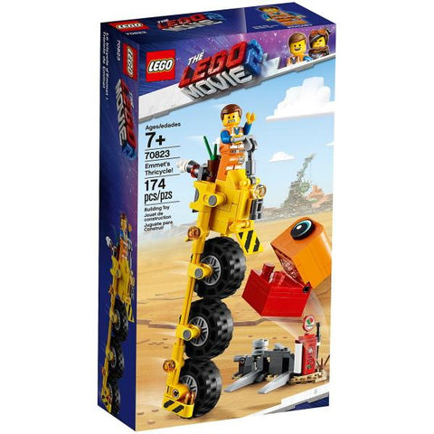 LEGO The LEGO Movie 2: Emmet's Thricycle! - 174 Piece Building Kit [LEGO, #70823, Ages 7+]