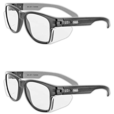 Magid Classic Black Safety Glasses - 2 Pairs - Y50BKAFC [House & Home]