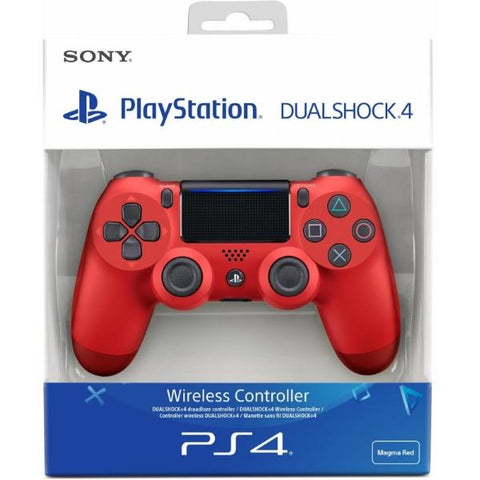 DualShock 4 Wireless Controller - Magma Red V2 [PlayStation 4 Accessory]