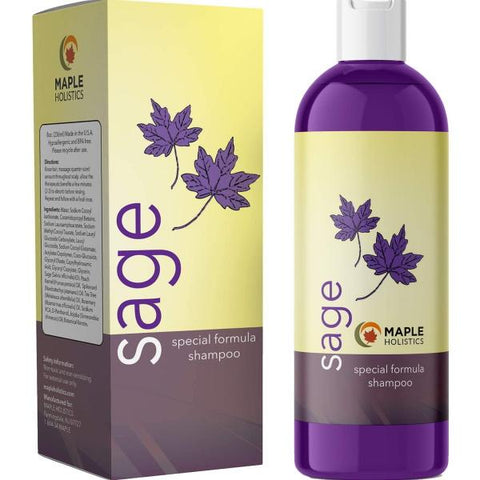 Maple Holistics Sage Shampoo for Anti Dandruff - 236mL / 8 fl oz [Beauty]