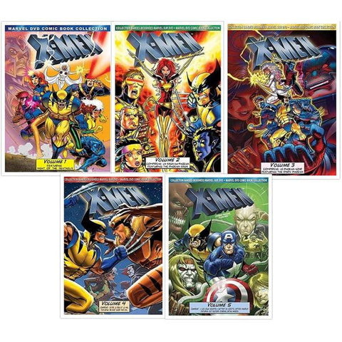 Marvel's X-Men Animated TV Series: Volumes 1-5 - Complete DVD Comic Book Collection [DVD Box Set]