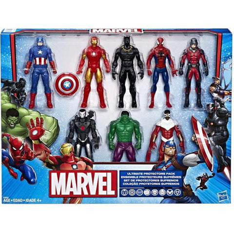 Marvel Ultimate Protector Pack - 8 Action Figures [Toys, Ages 4+]